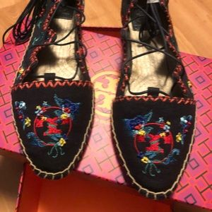 Tory Burch Sonoma Embroidered Flat